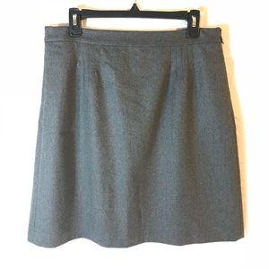 J Crew Gray Wool Skirt. Sz 10. NWOT.